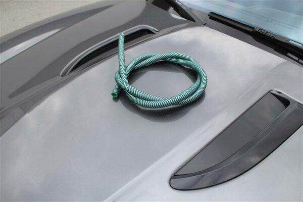 Silikonschlauch matt - grün Carbon