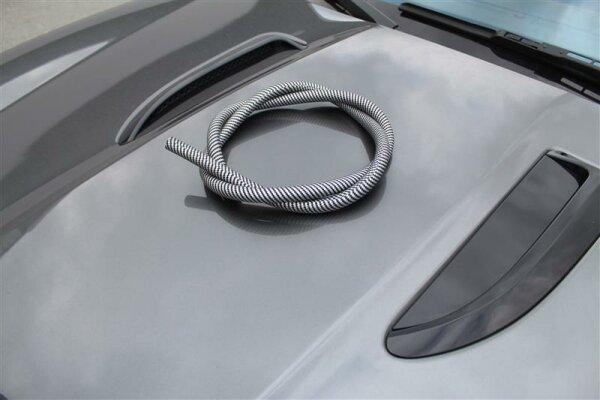 Silikonschlauch matt - schwarz Carbon